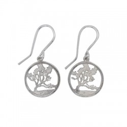 Wanaka Tree earrings silver2